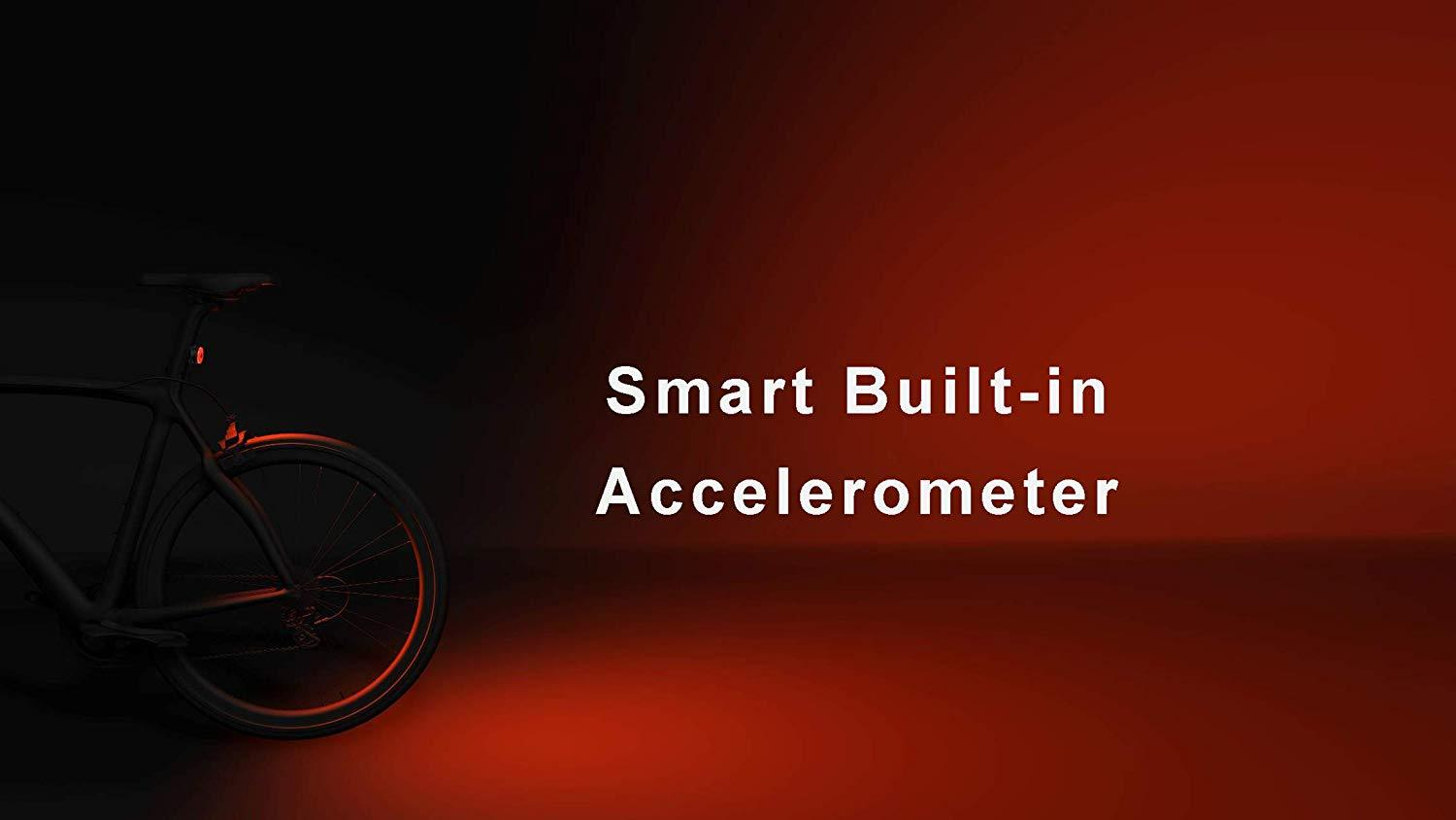 Smart Built-in Accelerometer Cycling Lights, High Power COB Bike Light, USB charge Bicycle Light, Waterproof Tail Light Sewosports