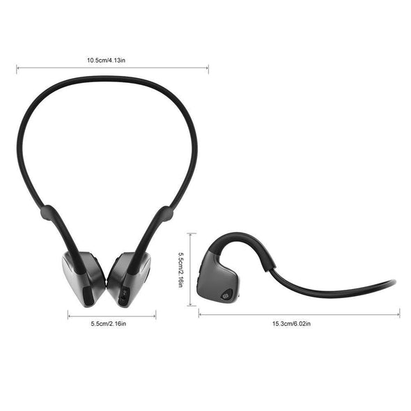 Bone Conduction Headphones Bluetooth 5.0 Wireless Headset, Waterproof Comfort HD Stereo Sound, Workout Use, Sports, Jogging, Fitness Gym Bone Conduction Headphones Sewosports