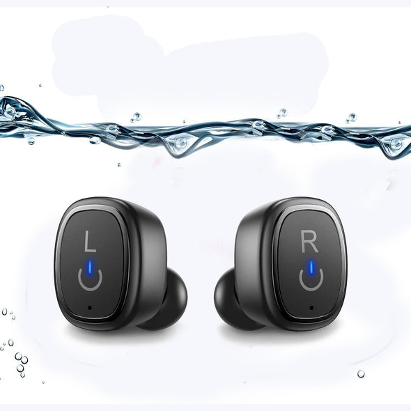 True Wireless Earbuds Bluetooth 5.0 In-Ear Headphones, IPX7 Waterproof Noise Isolating Earphones - Sewobye Black Wireless Bluetooth Headphones Sewosports