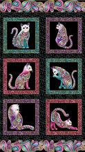 "Cat-I-Tude 100% Cotton with Gold Metallic Print 42""x 24"" (110cm x 61cm) Panel"