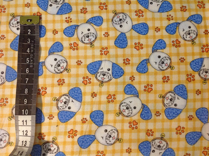 Quilting cotton - Joey the shop dog  (price per half metre)