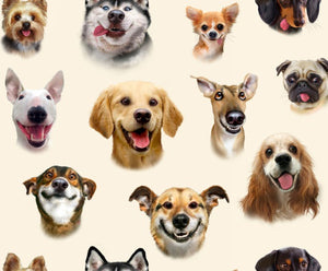 Pet Selfies - Dogs (price per half metre)