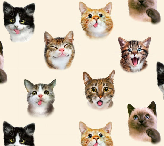 Pet Selfies - Cats (price per half metre)