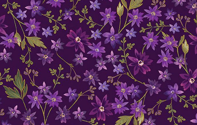 Enchanted - Mini Floral Purple