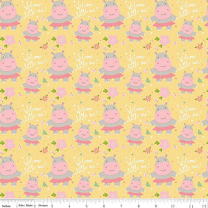 Sweet Baby Girl Hippos - Riley Blake Designs