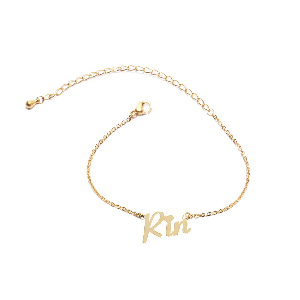 Name bracelet (choose from 14 fonts)