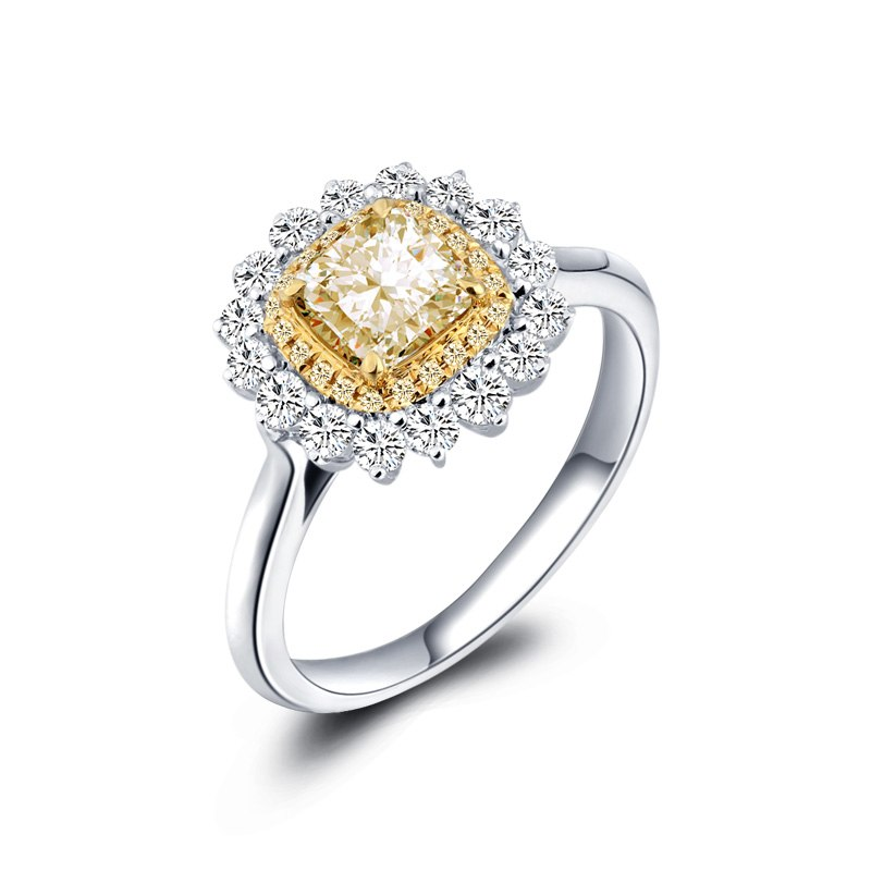 bague or blanc diamant luxe