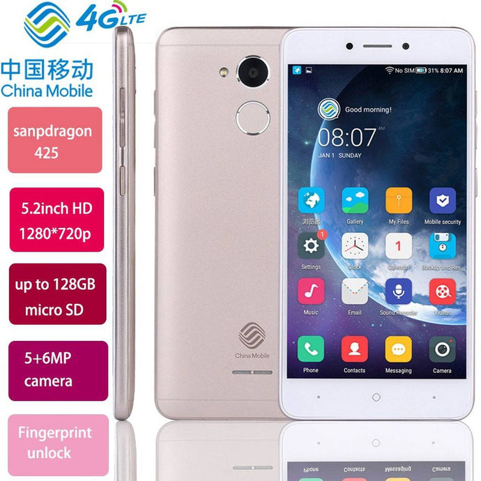 5.2 Inch M653 Mobile Phones HD 16GB Storage A3S Fingerprint Cellphone 8MP Android 7.1 Dual SIM 4G Network Smart Phone