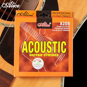 57f0e9dcf606 Acoustic Guitar Strings Stainless Steel Coated Copper Alloy Wound Alloy  Wound Alice A208 A203 A206