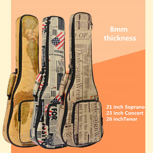 10mm Thick Leather Canvas Waterproof Soprano Concert Tenor Ukulele Bag Case  Backpack 21 23 26 Inch f0195d26cbeeb