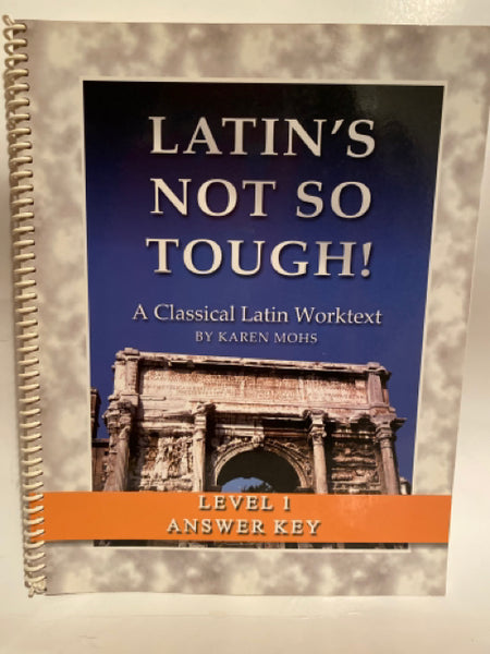 Latin's Not So Tough Level 1 Work-text Answer Key