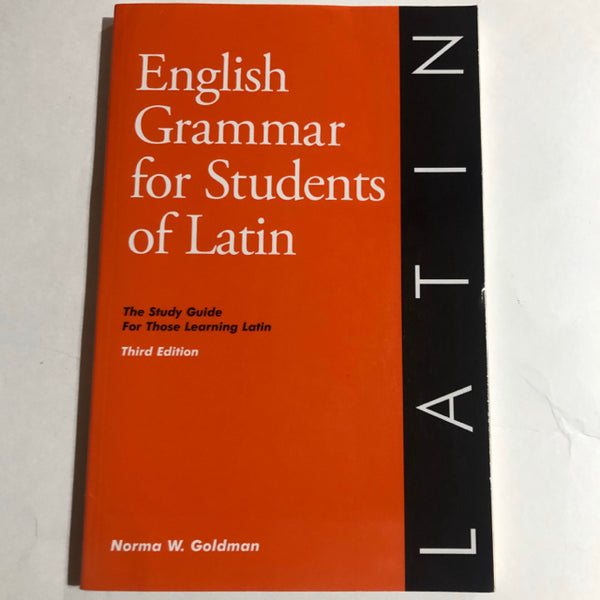 English Grammar for Latin Students
