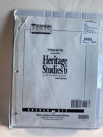 Heritage Studies 6 Tests Answer Key 2nd edition