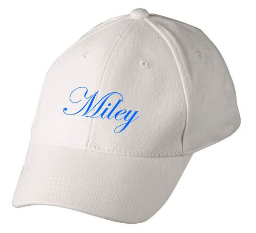 PERSONALISED KIDS COLOURED BASEBALL CAP - NAME OR INITIAL – Theodore ... cc6c033b531