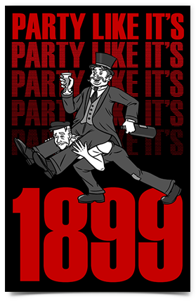 "Party Like It's 1899 sticker (2.75"" x 4.25"")"
