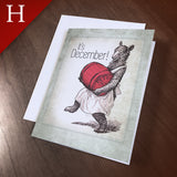 "Greeting Card (Holidays) - ""Barrel"""