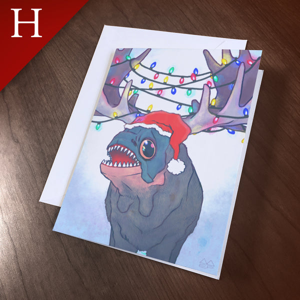 "Greeting Card (Holidays) - ""Antlers"""