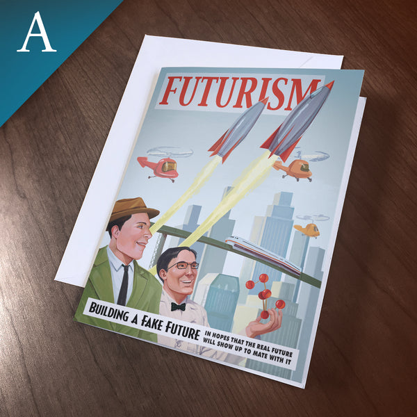 "Greeting Card (Blank Inside) - ""Futurism"""