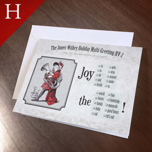 "Greeting Card (Holidays) - ""Joy"", Multi-Purpose HV-2"
