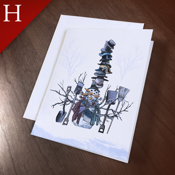 "Greeting Card (Holidays) - ""Super Snowman"""