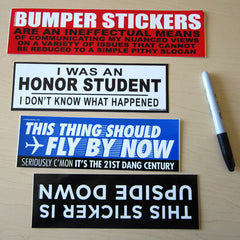 Bumper Stickers.