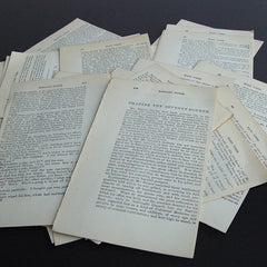 Old 1890s-era Book Pages for Crafting