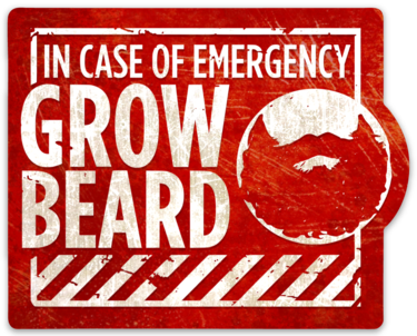 "In Case of Emergency Grow Beard sticker (3.8"" x 3"")"