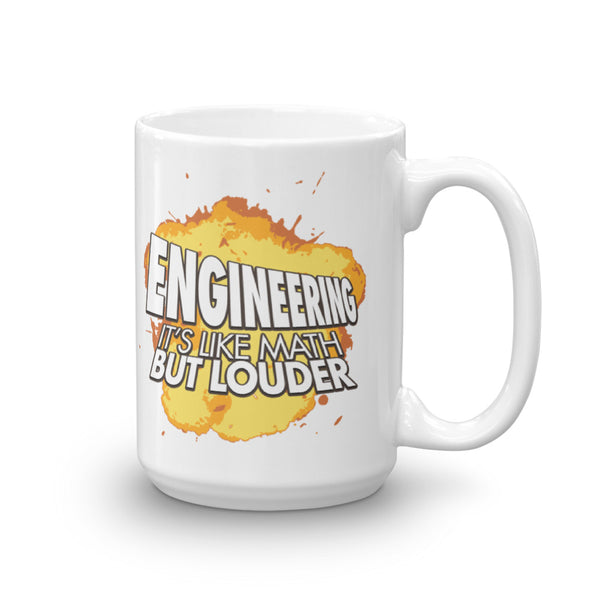 Engineering: Like Math But Louder MUG
