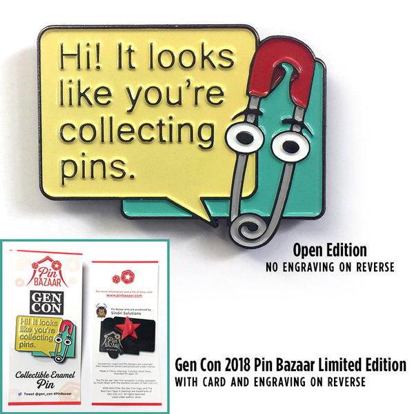 Enamel Pin - Pinny, Pin Assistant