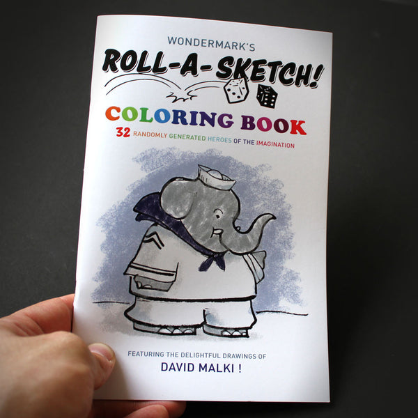 Roll-a-Sketch Coloring Book