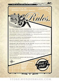 "Greeting Card (Blank Inside) - ""Tinkerer's Rules"""