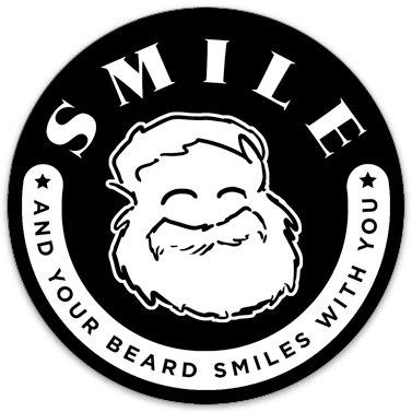 "Smile, And Your Beard Smiles With You sticker (3.5"" circle)"