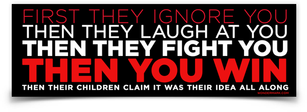 "Then You Win Bumper Sticker (8.5"" x 2.75"")"