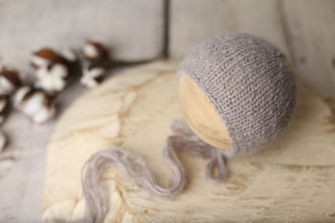 Warm grey fuzzy bonnet | RTS