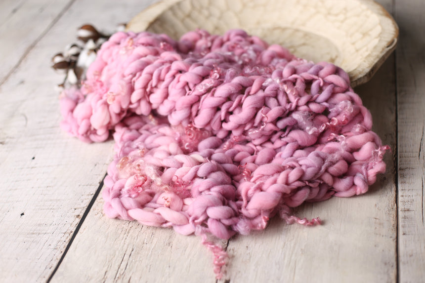 Dusty Rose mini blanket | Curly/No curls | RTS