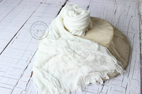 Ruffled layer/stuffer/wrap | RTS - Peach Stitch Photography Props