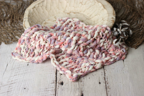 Arrow blanket | Mauve speckles | RTS - Peach Stitch Photography Props