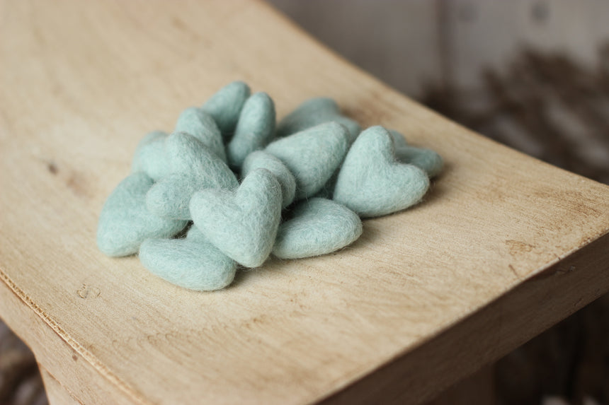 Felted hearts | RTS - Peach Stitch Photography Props