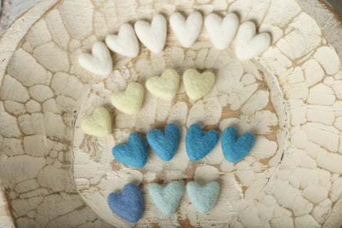 DESTASH Felted hearts | RTS