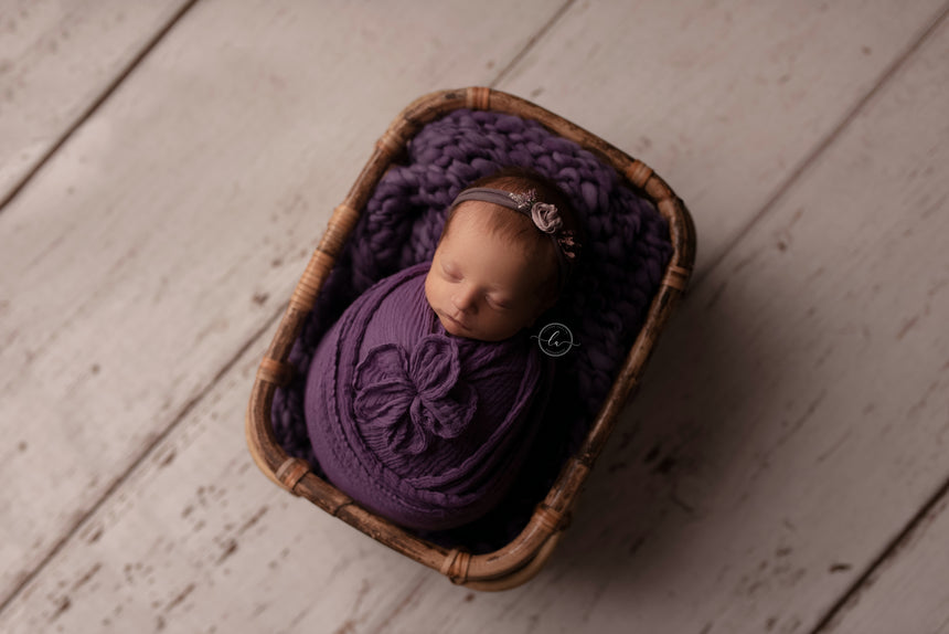 Plum mini blanket | Curly/No curls | RTS
