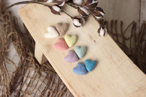 Felted hearts | RTS
