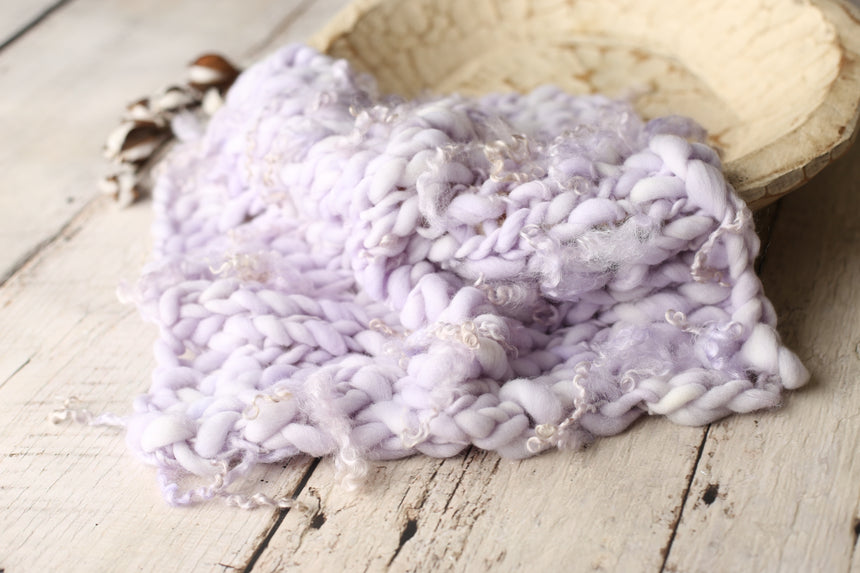 Lavender curly mini blanket | RTS