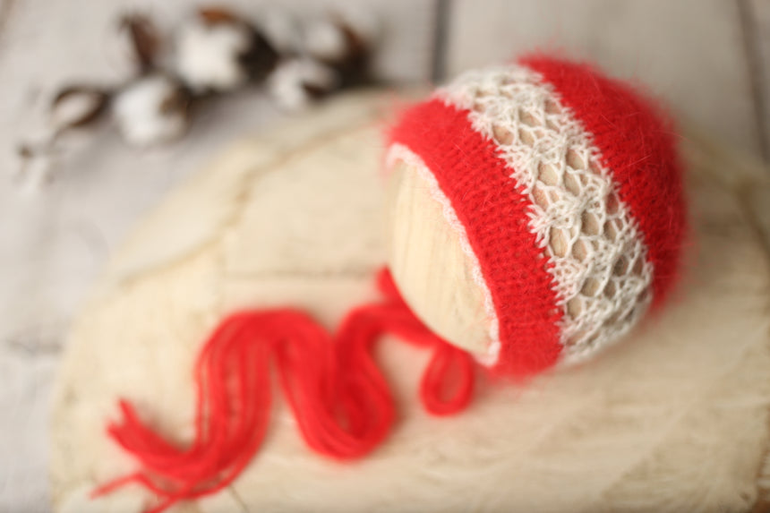 Holiday vibes Signature angora  bonnet | RTS