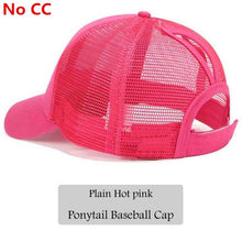 2018 CC Glitter Ponytail Baseball Cap Women Snapback Hat Summer Messy Bun Mesh Hats Casual Adjustable Sport Caps Drop Shipping