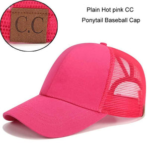 Dad Hat CC Ponytail Snapback Baseball Cap Messy Bun Caps For Women Female Summer Mesh Trucker Hat 2018 Fashion Girl Hip Hop Hats