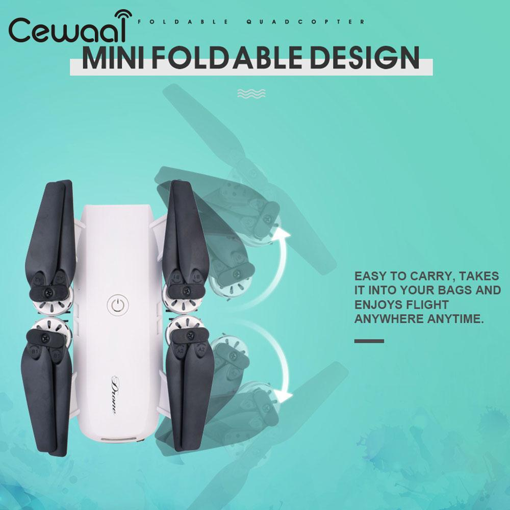 Folding 2.4GHz 4 Channel 6-Axis Gyro WiFi FPV HD 2.0MP Camera Altitude Hold Remote Quadcopter Helicopter Drone Kid Gift