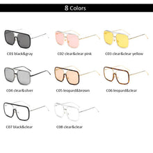Vintage Flat Top - Multi Color Variations -  Oversized Square Sunglasses