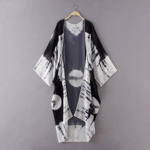 Feitong Fashion - Long Style - Kimono Cardigan  (Choose Your Color)