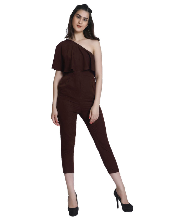 One Shoulder Full Length Party Wear Jumpsuit - Raaika Clothing