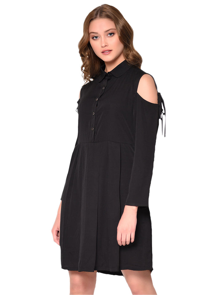 Cold Shoulder Dress - Raaika Clothing